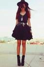 Black-romwe-dress