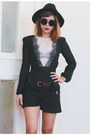 Black-everything-from-romwecom-romper