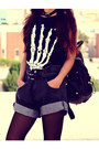 Black-denim-papaerbag-shopgipsypixiecom-shorts