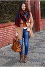 Camel-vj-style-coat-blue-lindex-jeans-brick-red-zara-scarf