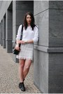 black Zara bag - off white F&F jumper - off white DIY skirt