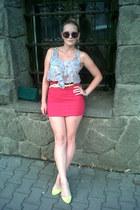 Primark blouse - Retro sunglasses - Primark belt - random brand flats