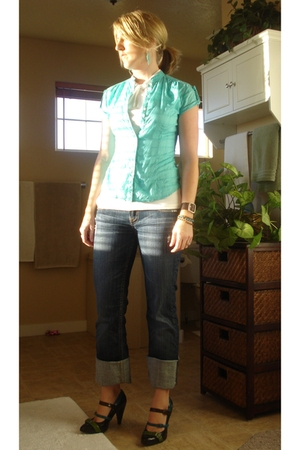 isaac mizrahi shirt - Old Navy shirt - MEK jeans - naughty monkey shoes - Old Na