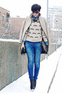 Black-oasap-boots-beige-zara-coat-blue-zara-jeans-beige-ax-paris-sweater