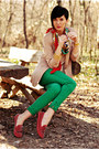 Ruby-red-oasapcom-shoes-camel-pull-bear-blazer-green-zara-pants
