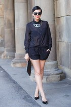 black Terranova shirt - black Terranova bag - black Terranova shorts