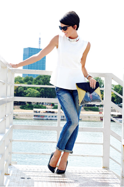 Zara jeans - OASAP shirt - Rename bag - Zara pumps