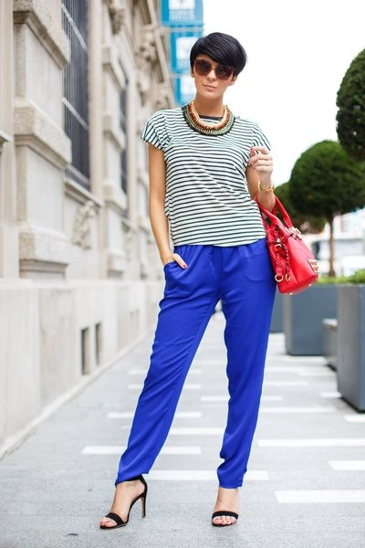 blue Joes Jeans pants - red Lillys Kloset bag - white Black Five t-shirt
