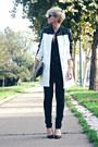 White-sheinside-coat-black-mango-jeans-black-oasapcom-bag