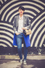 Silver-choies-coat-blue-lindex-jeans-white-stradivarius-shirt