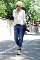 black Tasnarija bag - navy Zara jeans - black Choies sandals
