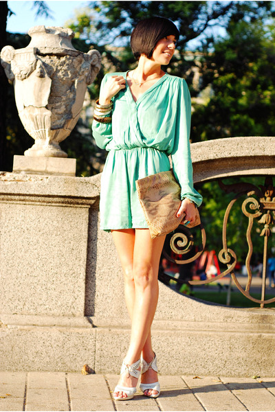 aquamarine InLoveWithFashioncom romper - camel non branded bag