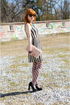 black christian dior sunglasses - white striped Primark dress