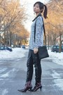 Crimson-boots-heather-gray-sweater-black-pants-black-studded-blouse