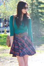 Top-forever-21-boots-plaid-skirt