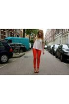 GINA TRICOT pants - GINA TRICOT shirt - Bershka heels