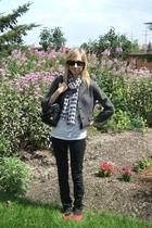 joe fresh style blazer - American Apparel top - No idea scarf - BDG jeans - Valu