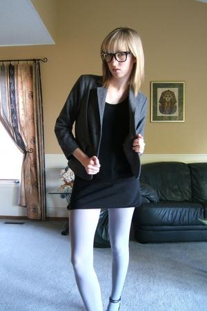 joe blazer - H&M dress - American Apparel tights