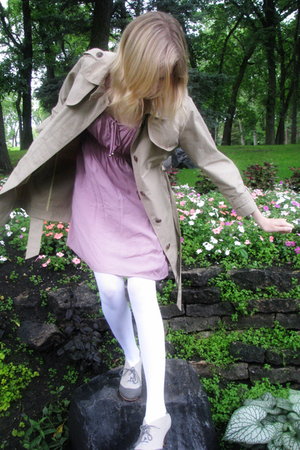 H&amp;M dress - American Apparel tights - Gap jacket - Urban Outfitters shoes
