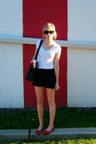 garage top - Gap shorts - Value Village shoes - roberto vianni purse