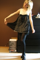 forever 21 dress - American Apparel tights - Steve Madden shoes