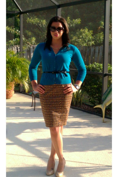 Target skirt - Michael Kors sunglasses - Target belt - corso como pumps