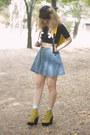 Yellow-tardy-jeffrey-campbell-boots-light-blue-daisy-print-forever-21-socks