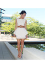 Orange-floral-aldo-shoes-white-y-structure-luluscom-dress