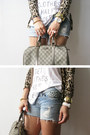 Gucci-bag-studded-diy-shorts-camel-leopard-zara-cardigan-fake-la-top