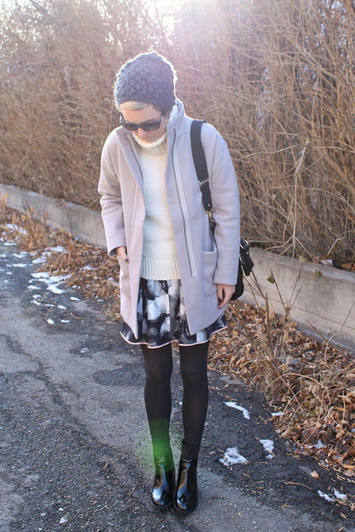 Zara boots - Old Navy coat - Michael Kors hat - Gap sweater - Target skirt