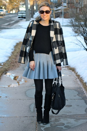 H&M skirt - Chinese Laundry boots - banana republic jacket - TJ Maxx sweater