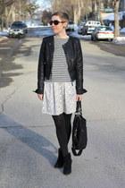 Target jacket - Mia boots - Target shirt - H&M skirt