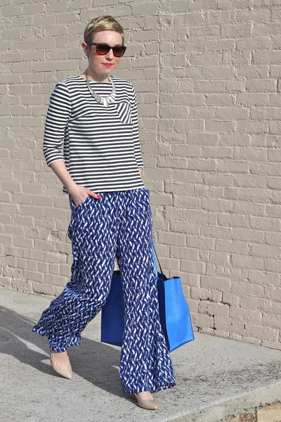 Target shirt - Zara bag - Target pants - Nine West heels - H&M necklace