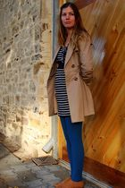 brown Dotti coat - blue Valley Girl dress - blue Myers tights - brown Rubi shoes