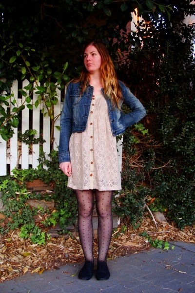 black dotted Temt tights - black black oxfords Rubi shoes shoes