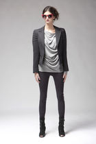 black mary meyer leggings - silver Tankus top - gray smythe jacket