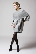 Modern Pleat Coat with Shrug by Kai-Aakmann
