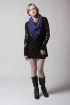 Denada Eternal Knit Scarf and Mink Pink Tunic