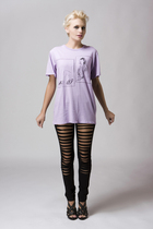 Maurie and Eve leggings - quail t-shirt