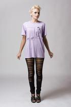 Maurie and Eve leggings - quail t-shirt