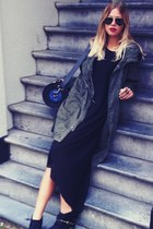 Topshop dress - H&M coat