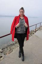 metallic thread Zara blazer - riding boots Divino Shoes Timisoara boots