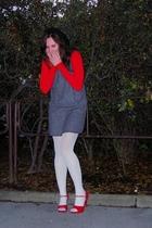 Mango sweater - match dress - Calzedonia tights - random brand