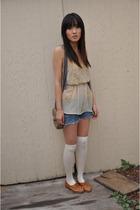 orange shoes Jeffery Campbell shoes - beige dress Urban Outfitters dress