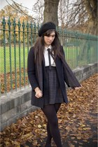 boyfriend wool American Apparel coat - wool handmade by me scarf - wool handmade