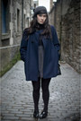 Navy-tba-coat-charcoal-gray-wool-beret-urban-outfitters-hat-navy-poloneck-to