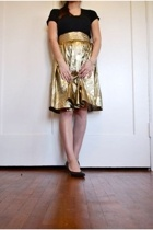 gold crinkle skirt