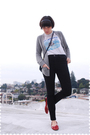 Gray-jcrew-cardigan-white-t-shirt-black-j-brand-jeans-red-anne-klein-shoes