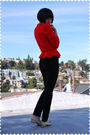 Red-saks-fifth-ave-cardigan-blue-coach-purse-black-j-brand-jeans-beige-sal
