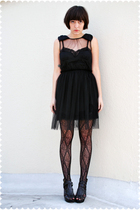 black Rodarte for Target dress - black Target stockings - beige Tabio stockings